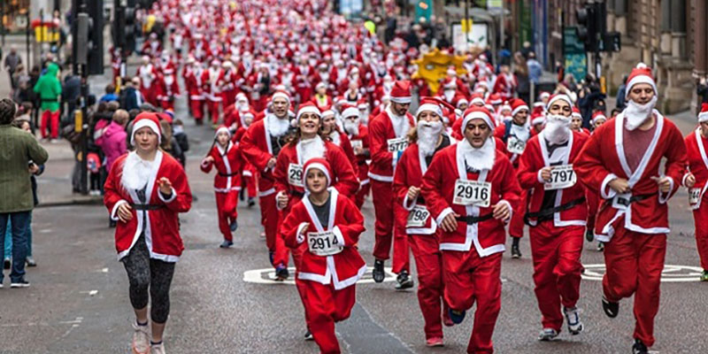 Santa Dash in Glasgow