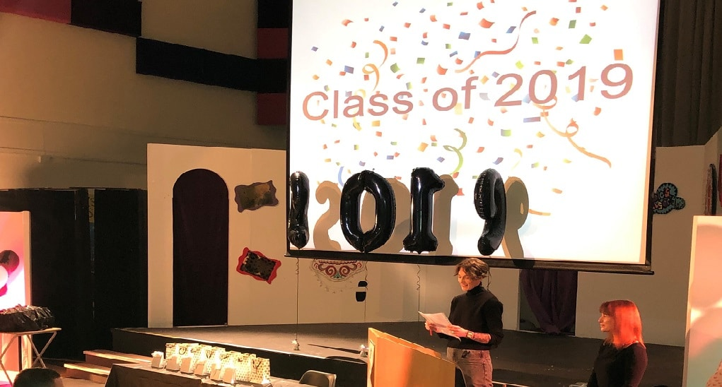 Awards ceremony for the class of 2019