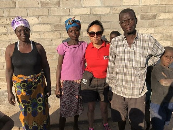 Meeting with family in Malawi